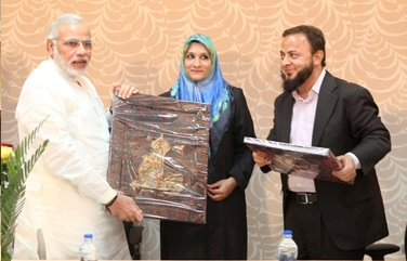 zafar&wife with modi